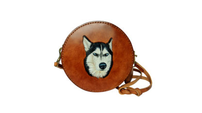 Dog Leather Hatbox