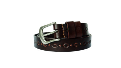 Vintage Carved Belt (Brown)